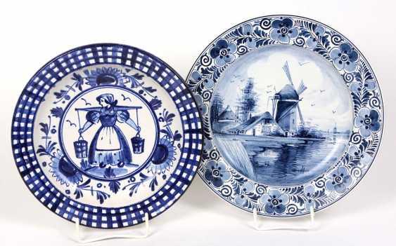 2 Dutch ceramic plate - photo 1
