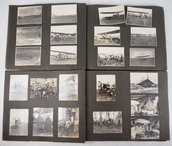 1. World war II: Lot of 2 photo albums of the pilots-observers Ludwig Brauer - hunting season 2 / stages-plane-Park-7. - photo 1
