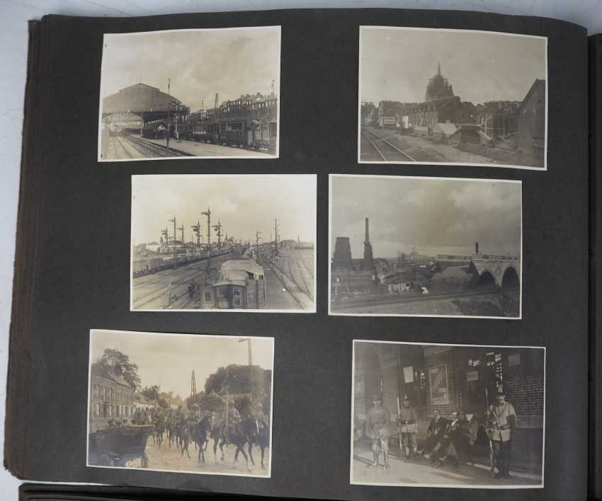 1. World war II: Lot of 2 photo albums of the pilots-observers Ludwig Brauer - hunting season 2 / stages-plane-Park-7. - photo 4