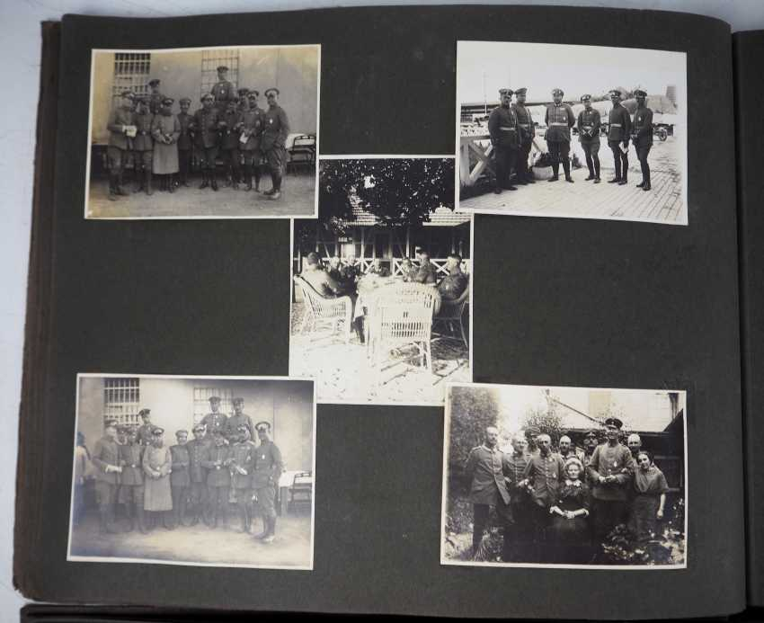 1. World war II: Lot of 2 photo albums of the pilots-observers Ludwig Brauer - hunting season 2 / stages-plane-Park-7. - photo 5
