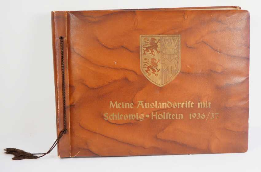 """Photo album of the trip abroad of the line ship """"Schleswig-Holstein"""" 1936/37. - photo 1"""