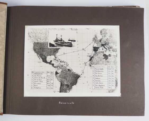 """Photo album of the trip abroad of the line ship """"Schleswig-Holstein"""" 1936/37. - photo 2"""