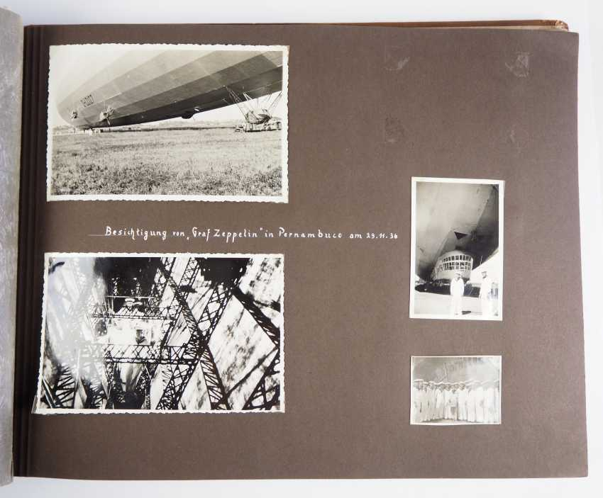 """Photo album of the trip abroad of the line ship """"Schleswig-Holstein"""" 1936/37. - photo 3"""
