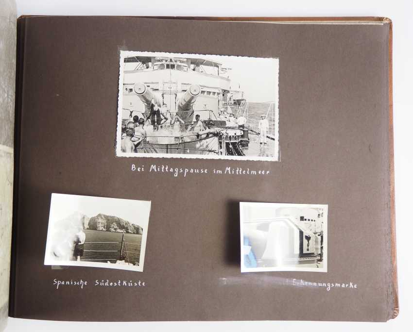 """Photo album of the trip abroad of the line ship """"Schleswig-Holstein"""" 1936/37. - photo 4"""