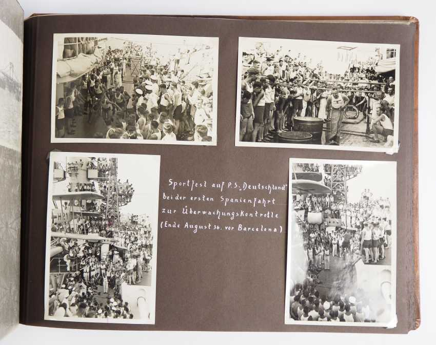 """Photo album of the trip abroad of the line ship """"Schleswig-Holstein"""" 1936/37. - photo 5"""