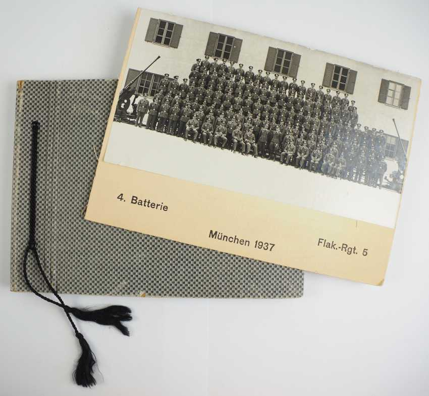 Photo album of the 4. Battery, Flak-Regiment 5 - Munich, 1937. - photo 1