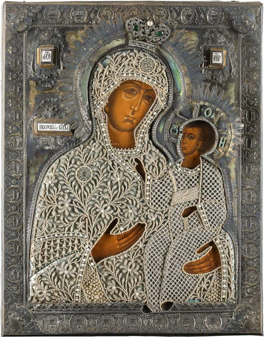 LARGE-SCALE ICON OF THE MOTHER OF GOD 'IWERSKAJA' WITH RENT - photo 1