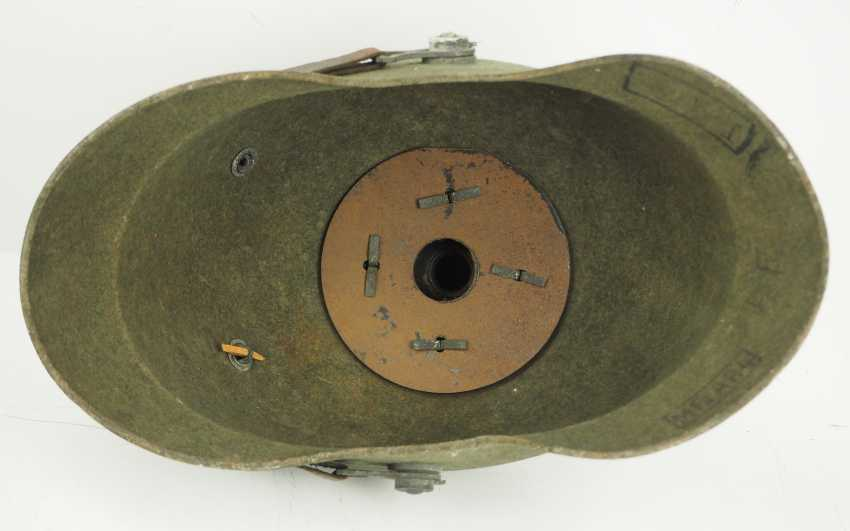 Prussia: field grey replacement Pickelhaube made of felt, for teams of artillery - photo 5