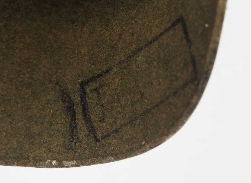Prussia: field grey replacement Pickelhaube made of felt, for teams of artillery - photo 7