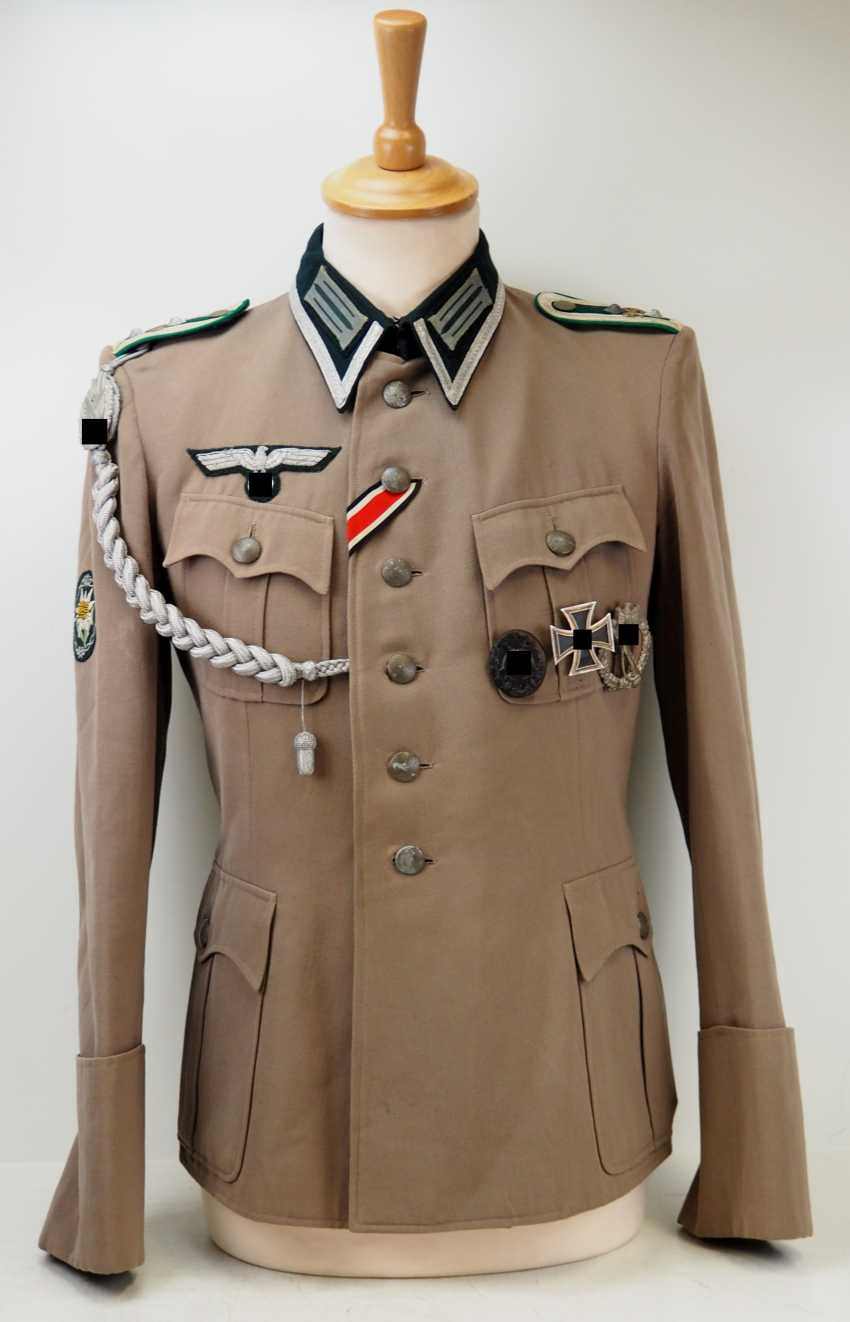 Wehrmacht: field blouse of a Sergeant in the mountain infantry Regiment 99. - photo 1