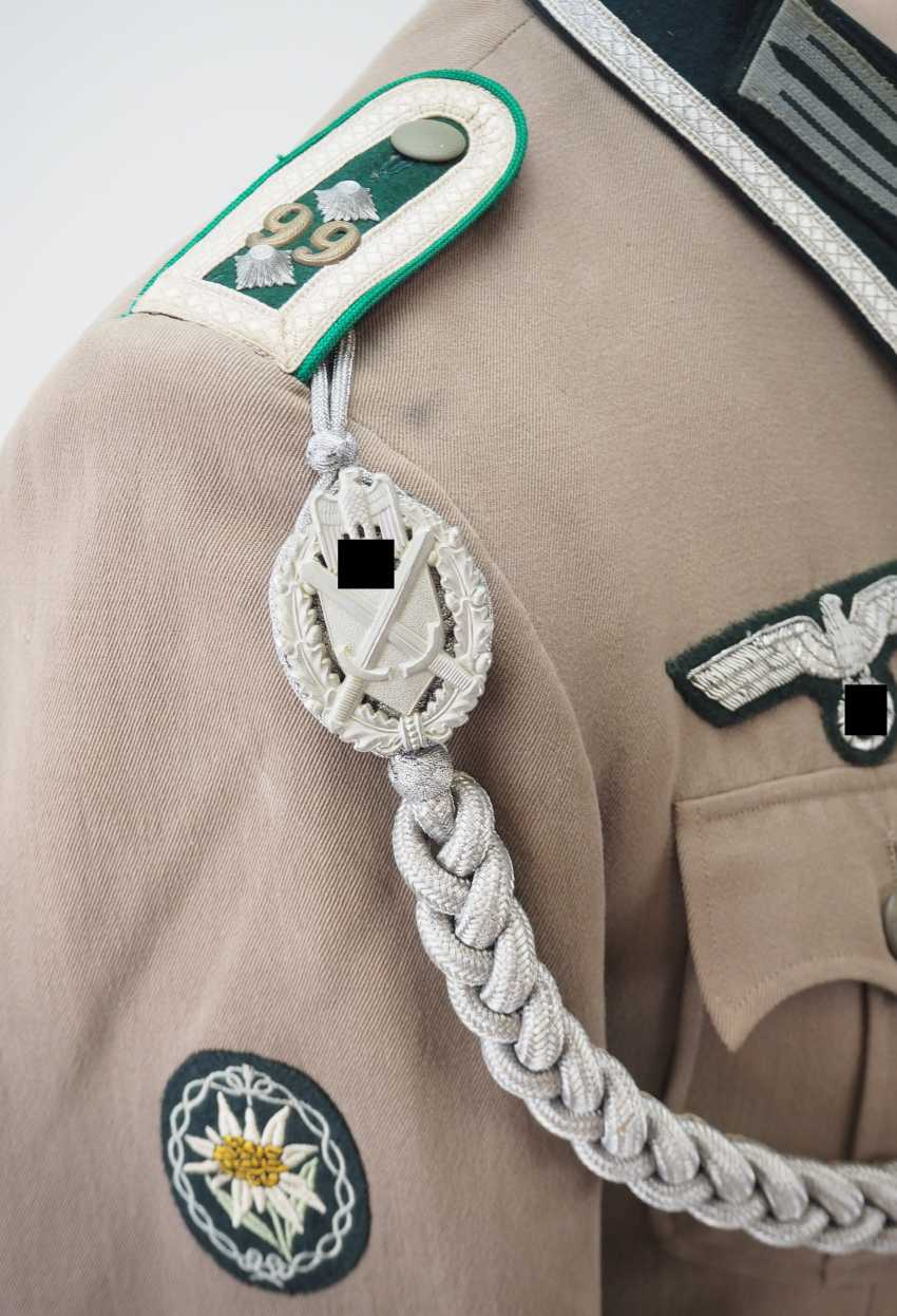 Wehrmacht: field blouse of a Sergeant in the mountain infantry Regiment 99. - photo 4