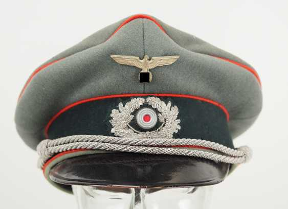 Wehrmacht: visor cap for officers of the artillery. - photo 2