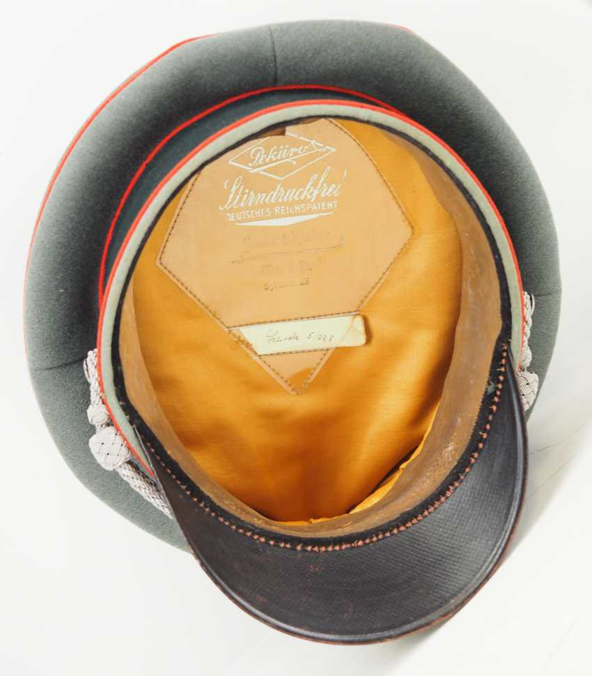 Wehrmacht: visor cap for officers of the artillery. - photo 5