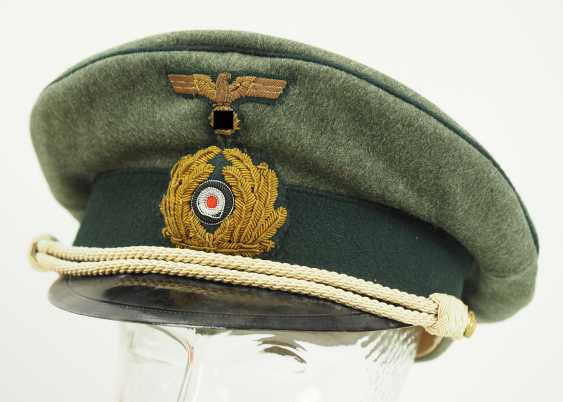 Navy: visor cap for officers of the coastal artillery / naval land units, field grey. - photo 1