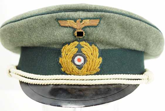 Navy: visor cap for officers of the coastal artillery / naval land units, field grey. - photo 2