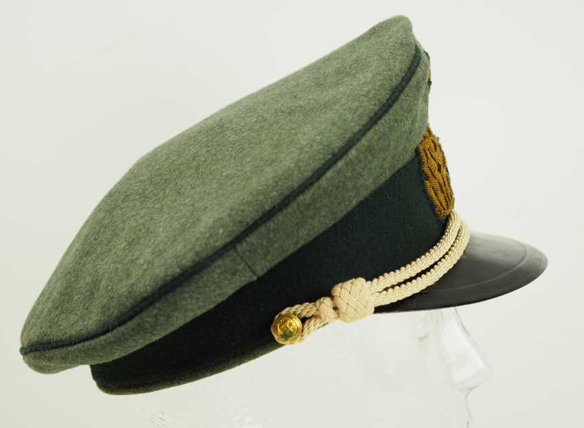 Navy: visor cap for officers of the coastal artillery / naval land units, field grey. - photo 3