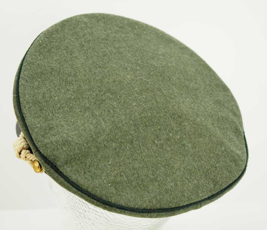 Navy: visor cap for officers of the coastal artillery / naval land units, field grey. - photo 4