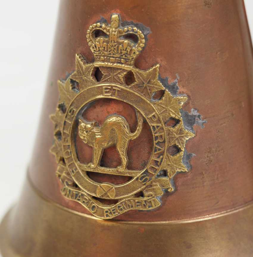 Canada / United States: steel helmet, and signal trumpet. - photo 2