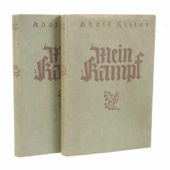 Hitler, Adolf: Mein Kampf - first edition in 2 volumes. - photo 1