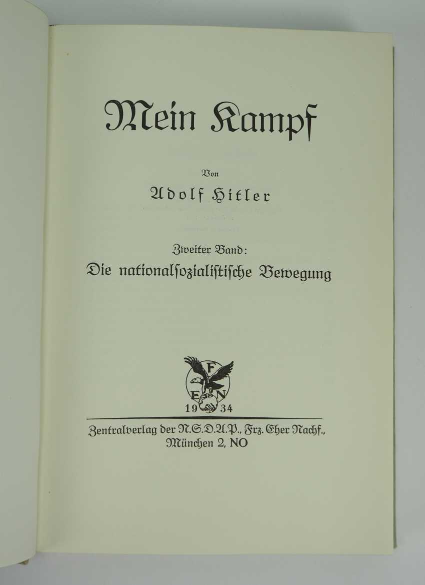Hitler, Adolf: Mein Kampf - first edition in 2 volumes. - photo 3