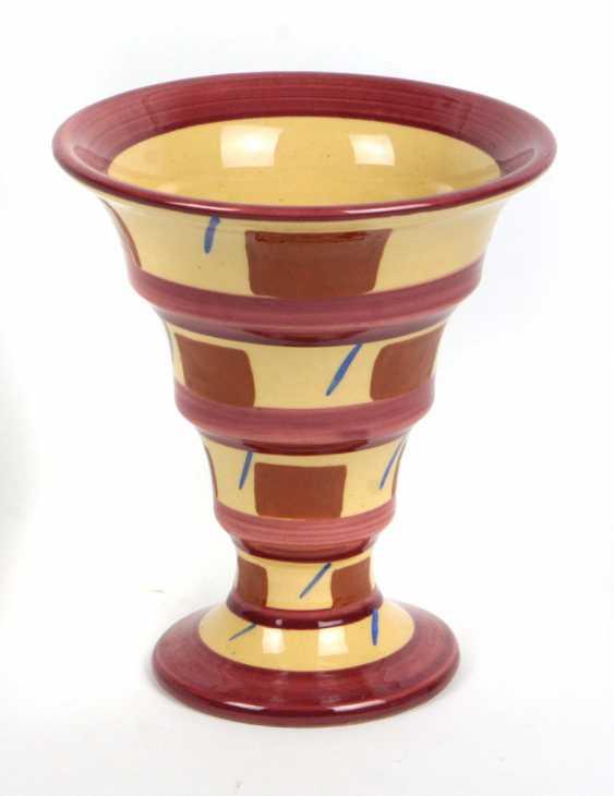Art Deco pottery Vase 1930s - photo 1