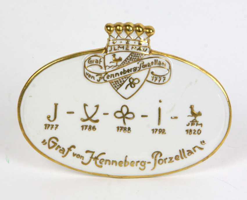 Porcelain Advertising Plate - photo 1