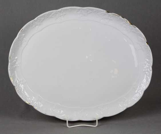 Meissen Serving Plate Has A Grape Leaf Relief - photo 1