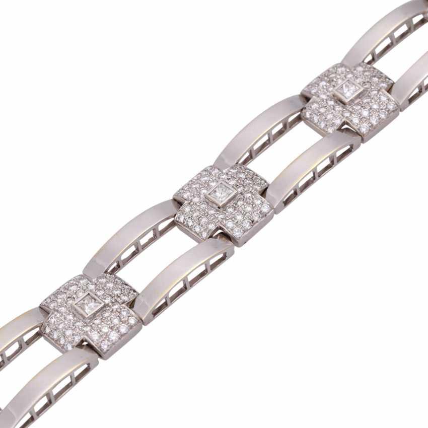 Браслет с 7 бриллиантами принцесса огранка, вместе около 0,85 ct - фото 4