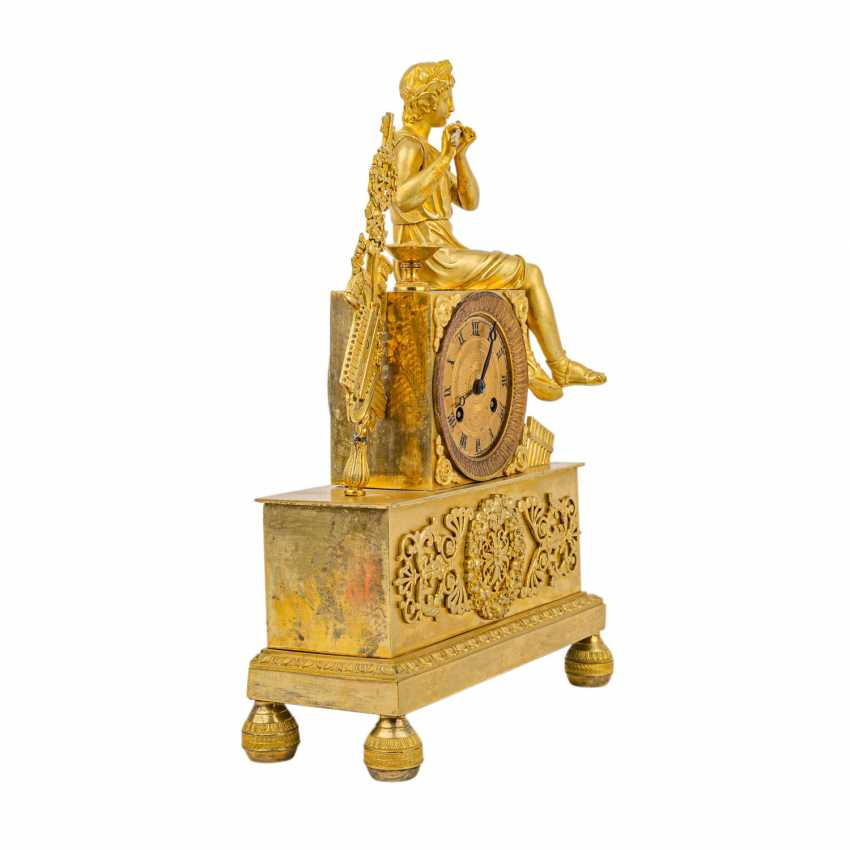 FRENCH PENDULE WITH FLUTE PLAYER - photo 3