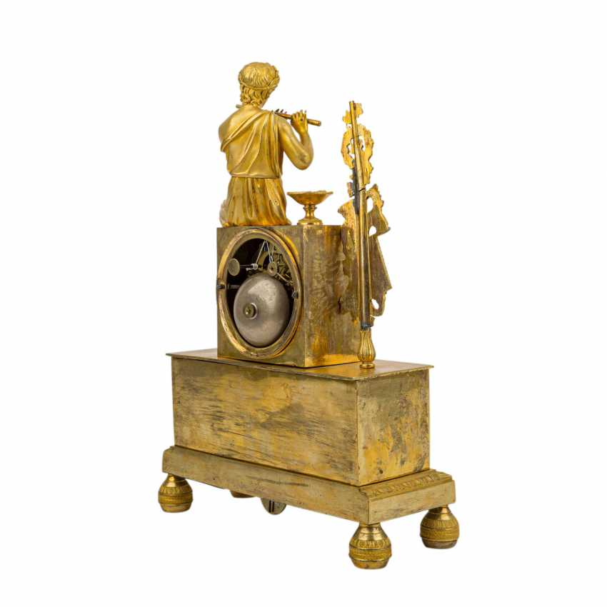 FRENCH PENDULE WITH FLUTE PLAYER - photo 4