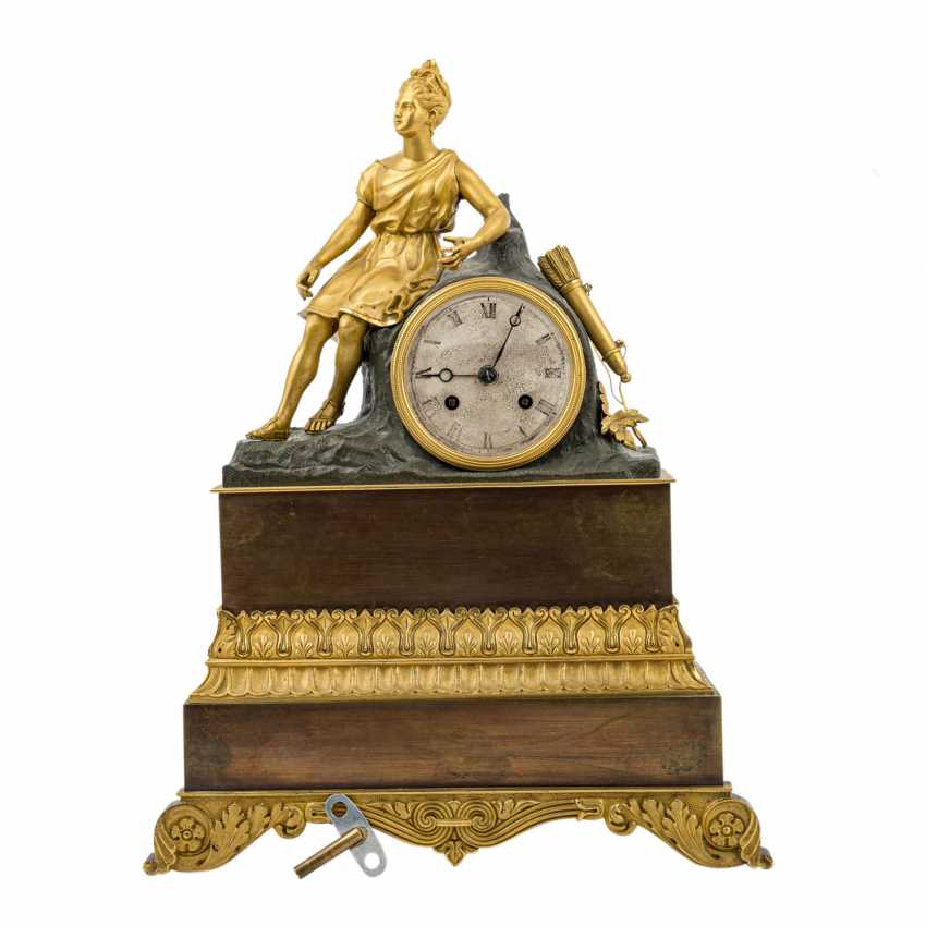 CHARLES X CLOCK WITH HUNTING GODDESS DIANA - photo 1