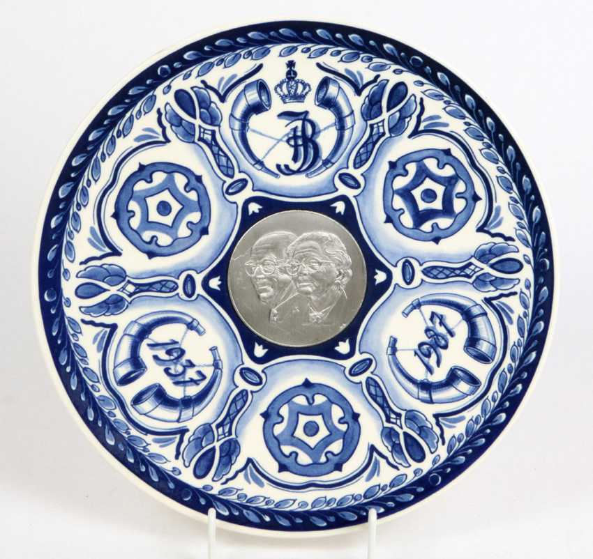 Delft Blue Souvenir Plate 1987 - photo 1