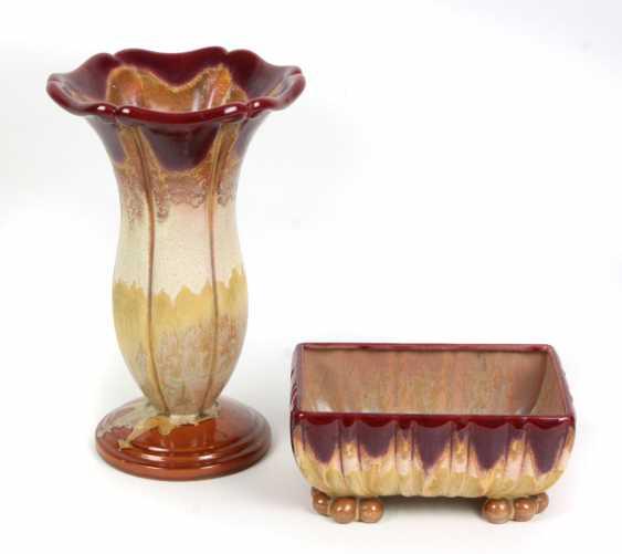 Art Deco Vase u. Schale - photo 1