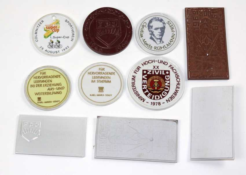 10 porcelain plaques DDR - photo 1