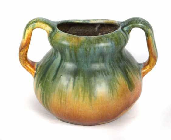 Running Glaze Handle Vase - photo 1