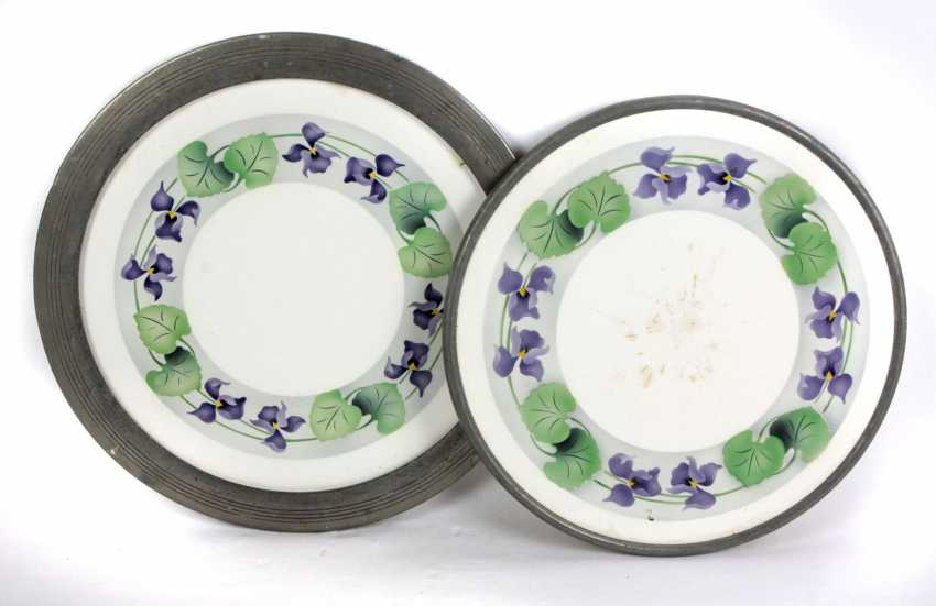 2 Cake Plates *Violet Garland* - photo 1