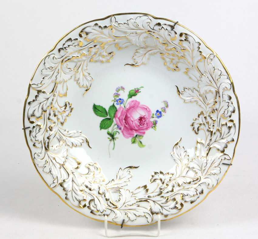 Meissen Ceremonial Plate *Red Rose* - photo 1