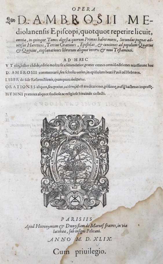 Ambrosius, S. - photo 1