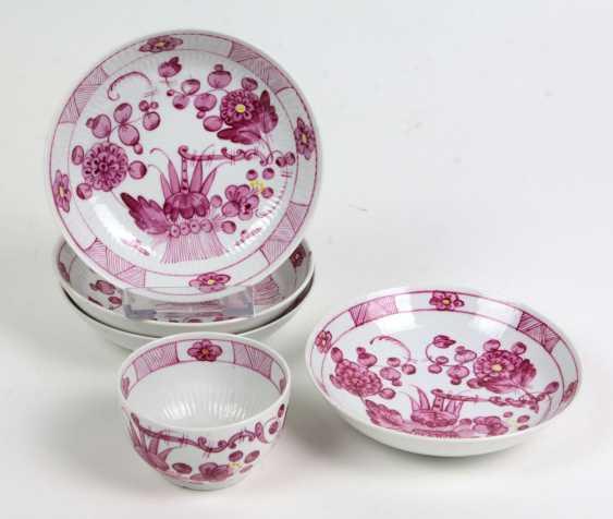 Rough stone-coupling Chen & 4 small bowls around 1800 - photo 1