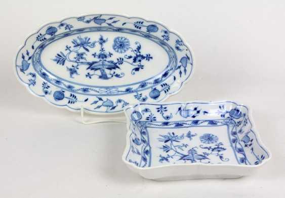 Anbietschale & plate *onion pattern* - photo 1