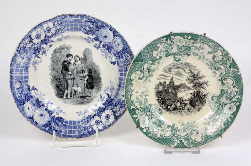 2 ceramic plates 1900's - photo 1