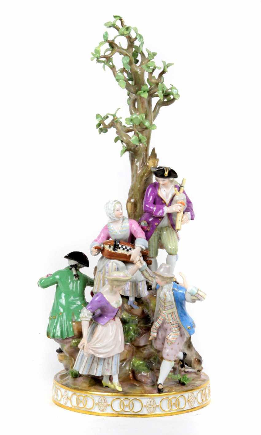 Meissen gardener figure group 1850 - photo 1