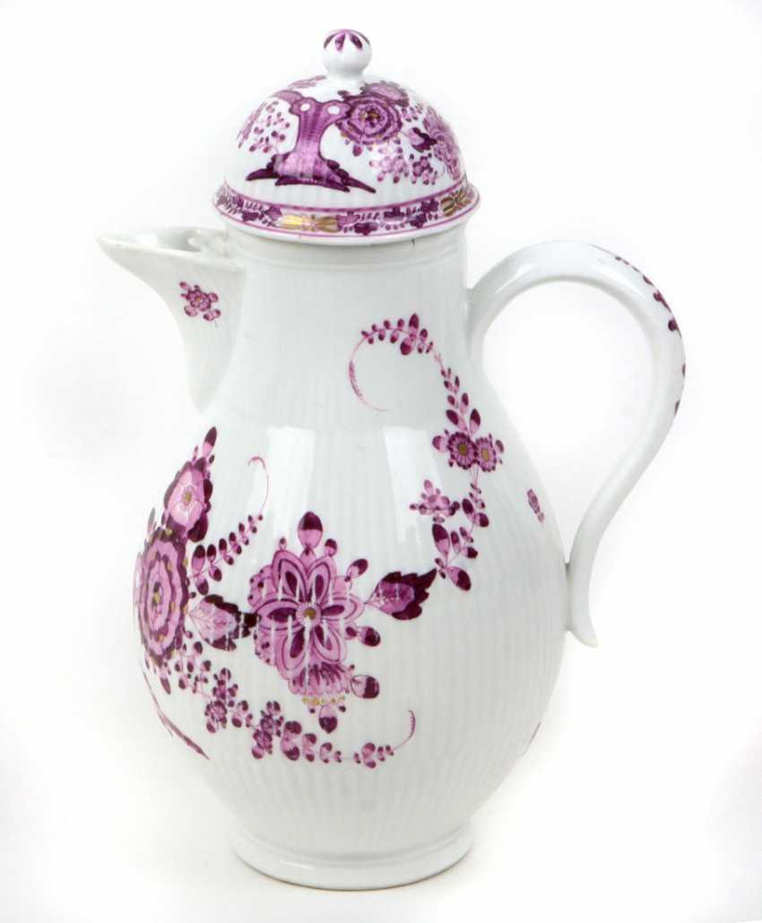 Meissen Rococo Teapot *Purple* 1770/75 - photo 1