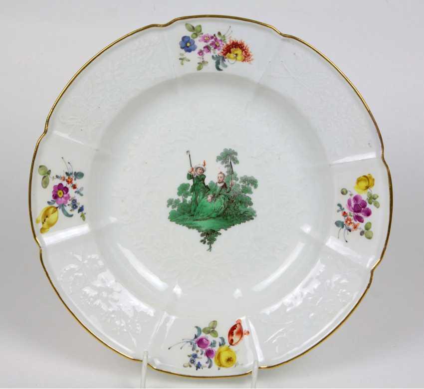 Meissen plate Watteau Service to 1760 - photo 1