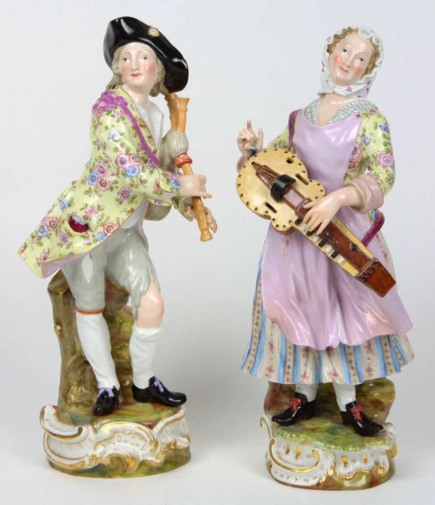 Пара парадных фигур в 1860 году Meissen