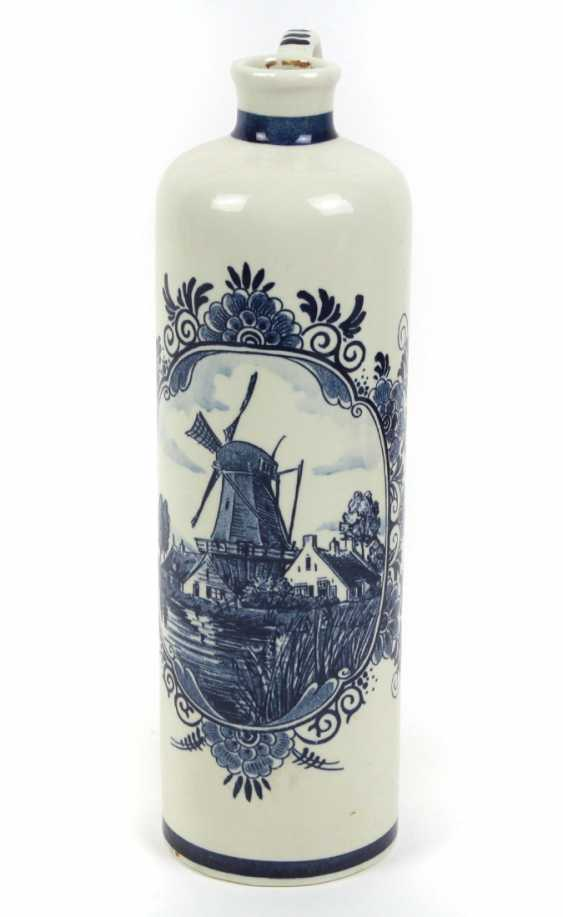 Delft Blue Handle Bottle - photo 1