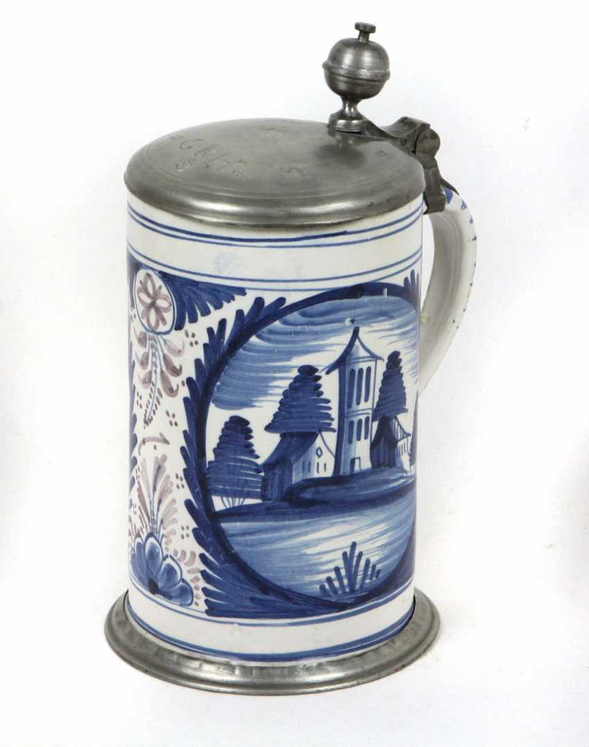 Nuremberg Faience Jug 18. Century - photo 1