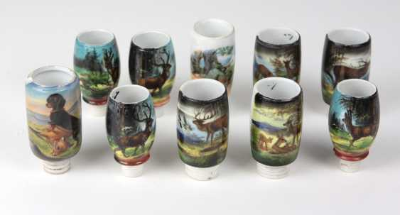 10 Porcelain Pipe Bowls Hunting - photo 1