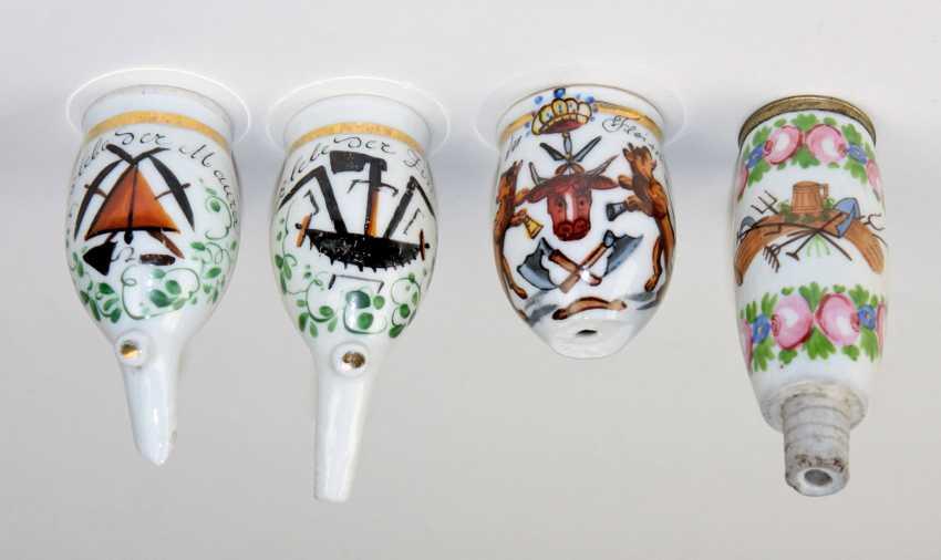 4 Porcelain Pipe Bowls Guild - photo 1