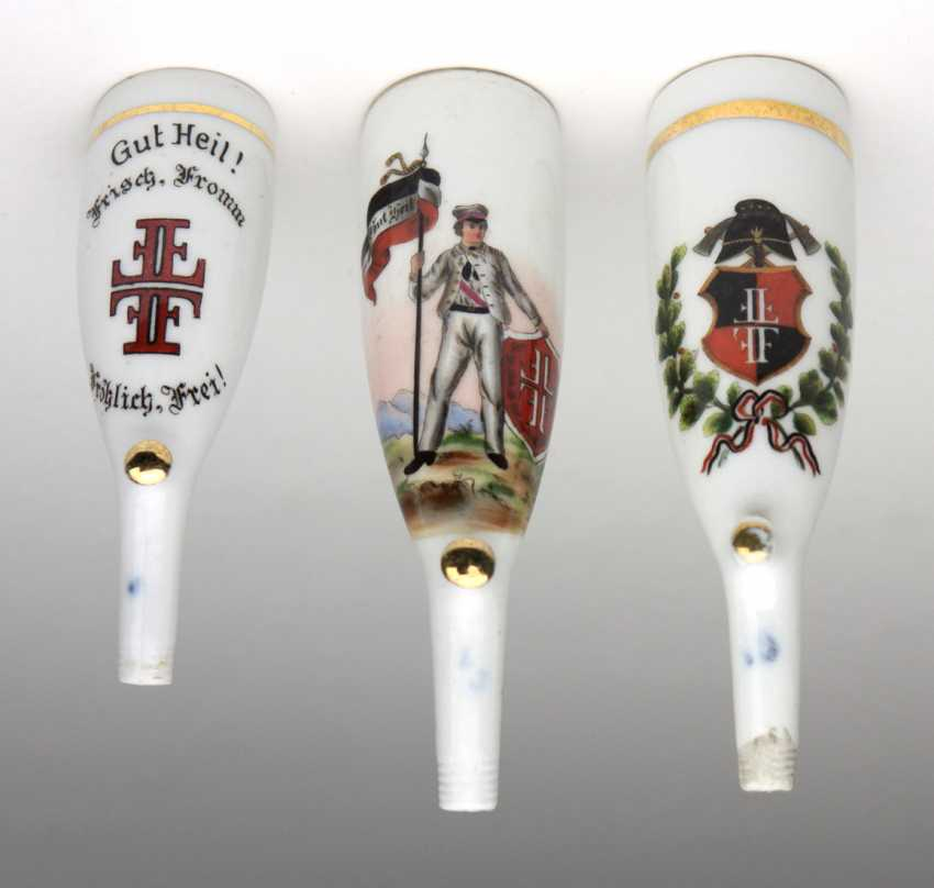 3 Porcelain Heads Turn Federal Whistle - photo 1